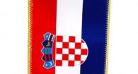 Hrvatska stolna zastava 10x20, sa stalkom